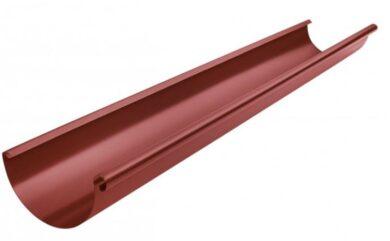 Žlab pozinkovaný ocelově červený 400 mm, délka 4 m(1673)
