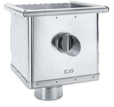 Kotlík pozinkovaný sběrný kubický excentrický s výtokem  80 mm(2776)