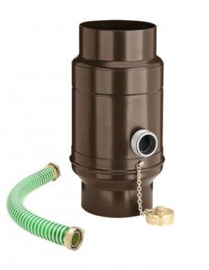 zachytávač vody s přípojnou hadicí pozinkovaný hnědý průměr 100 mm(3013)