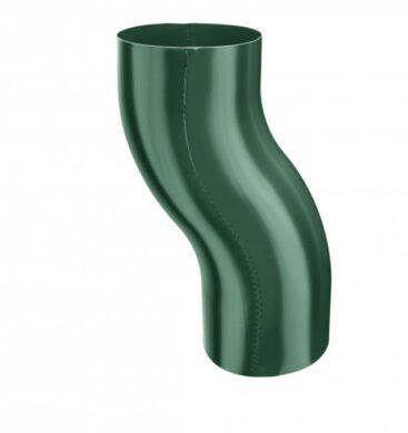 Koleno pozinkované mechově zelené 100 mm odskokové(4201)