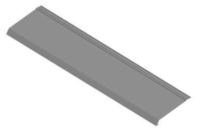 Okapový plech pozinkovaný r.š. 200 mm - 2 m(572)