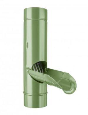 Zachytávač vody pozinkovaný trávově zelený 100 mm se sítkem(6240)