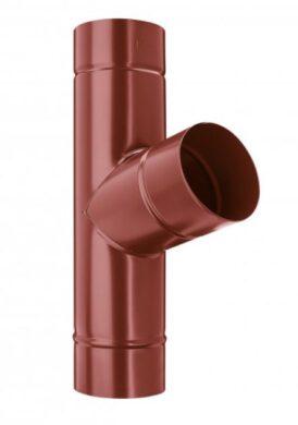 Odbočka svodu pozinkovaná ocelově červená 120/120 mm(7890)