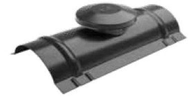 Střešní hřebenáč větrací, intenzivně černý RAL 9005 matný(9686)