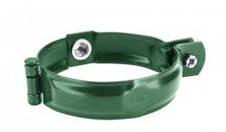 Objímka pozinkovaná mechově zelená  60 mm, bez hrotu, s metrickým závitem M10