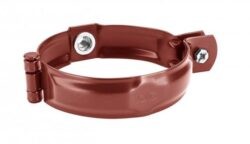 Objímka pozinkovaná ocelově červená  80 mm, bez hrotu, s metrickým závitem M10