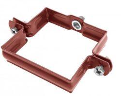 Objímka pozinkovaná hranatá ocelově červená  80 mm, bez hrotu,metrický závit M10