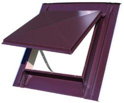 Vylézák hliníkový hnědý tmavý 60 x 60 cm, celoplechový (RAL8028TM)