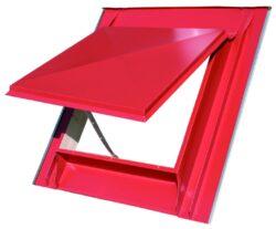 Vylézák hliníkový červený 60 x 60 cm, celoplechový