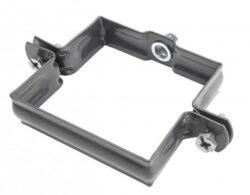Objímka pozinkovaná hranatá antracit 100 mm, bez hrotu, metrický závit M10