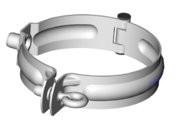 Objímka pozinkovaná 100 mm, bez hrotu, s metrickým závitem M10