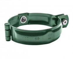 Objímka hliníková mechově zelená  80 mm bez hrotu, s metrickým závitem M10