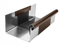 Žlab dilatační pozinkovaný hnědý r.š. 330 mm, délka 260 mm