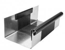 Žlab dilatační pozinkovaný černý r.š. 400 mm, délka 260 mm