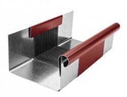 Žlab dilatační pozinkovaný ocelově červený r.š. 400 mm, délka 260 mm