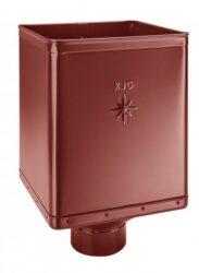 Kotlík pozinkovaný sběrný DESIGN ocelově červený 100 mm excentrický