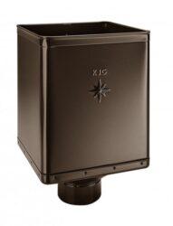 Kotlík pozinkovaný sběrný DESIGN hnědý 120 mm excentrický