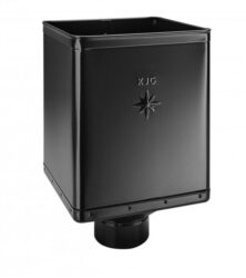 Kotlík pozinkovaný sběrný DESIGN černý 100 mm excentrický