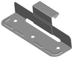 Příponka posuvná nerezová komplet  25/55 mm