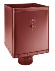 Kotlík pozinkovaný sběrný DESIGN ocelově červený 100 mm