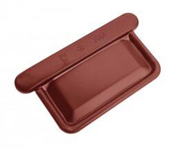 Čílko hliníkové hranaté ocelově červené 400 mm