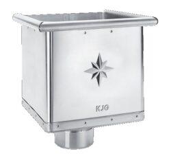Kotlík pozinkovaný sběrný kubický excentrický 120 mm
