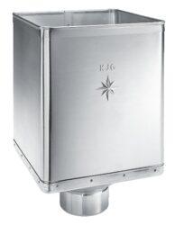 Kotlík titanzinkový sběrný DESIGN excentrický  80 mm