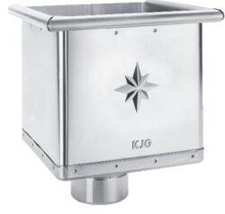 Kotlík titanzinkový sběrný kubický excentrický 100 mm