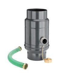 zachytávač vody s přípojnou hadicí pozinkovaný černý průměr 100 mm