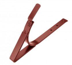 Hák hliníkový ocelově červený sámový, zpevněný