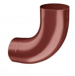 Koleno hliníkové ocelově červené 100/85st. lisované
