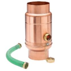 zachytávač vody s přípojnou hadicí měděný průměr 100 mm