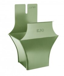 Kotlík pozinkovaný hranatý trávově zelený 250/80 mm