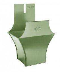 Kotlík pozinkovaný hranatý trávově zelený 400/120 mm