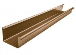 Žlab pozinkovaný hranatý metalický měděný 330 mm, délka 4 m