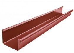 Žlab pozinkovaný hranatý ocelově červený 400 mm, délka 6 m