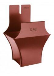 Kotlík pozinkovaný hranatý ocelově červený 330/100 mm