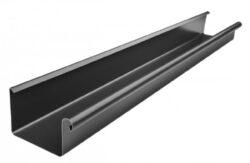 Žlab pozinkovaný hranatý černý 330 mm, délka 6 m
