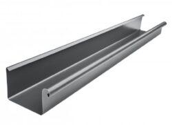 Žlab pozinkovaný hranatý antracit 330 mm, délka 4 m