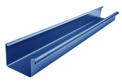 Žlab pozinkovaný hranatý modrý 250 mm, délka 4 m