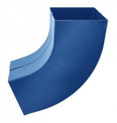 Koleno pozinkované hranaté modré 150 mm