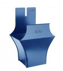 Kotlík pozinkovaný hranatý modrý 400/120 mm
