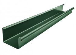 Žlab pozinkovaný hranatý mechově zelený 400 mm, délka 6 m