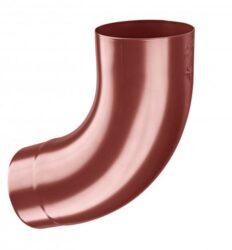 Koleno pozinkované ocelově červené 100/72st. lisované