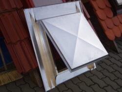 Vylézák hliníkový měděno hnědý 60 x 60 cm, celoplechový (RAL8004)