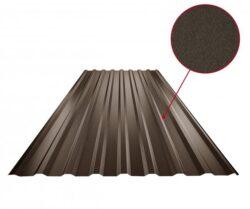 Plech trapézový tmavě hnědý RAL 8028, TR18A - střešní 0,50mm matný