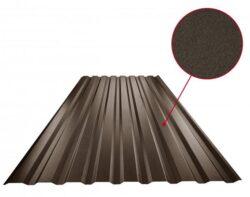 Plech trapézový tmavě hnědý RAL 8028, TR18B - stěnový 0,50mm matný