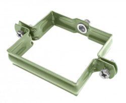 Objímka pozinkovaná hranatá trávově zelená 120 mm, bez hrotu, metrický závit M10