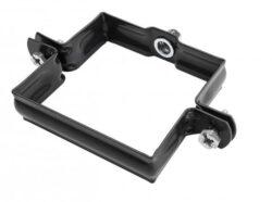 Objímka pozinkovaná hranatá černá 120 mm, bez hrotu, metrický závit M10