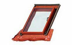 BRAMAC okno Luminex TOP 70 x 100 cm (otvor 48,5 x 72,5 cm) cihlově červené